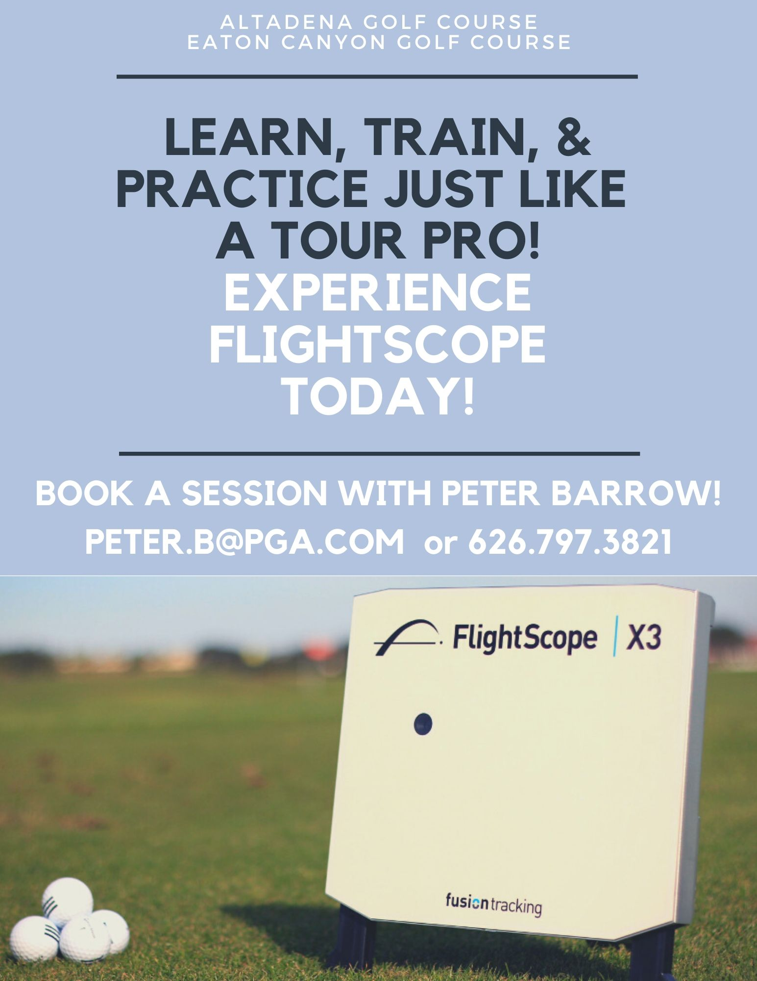 Flightscope With Peter Barrow